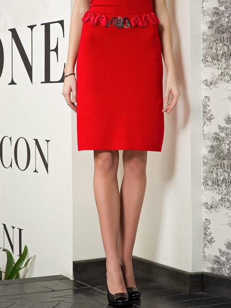Французские юбки красные